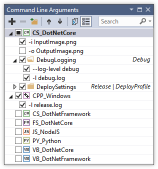 Debugging with command-line parameters in Visual Studio